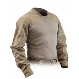 Lancer Tactical Airsoft TLS Half Shell Combat Shirt - COYOTE BROWN