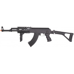 Lancer Tactical AK47 LT-728U AEG Airsoft Rifle w/ Folding Stock - BLACK
