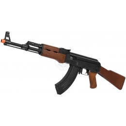 JG Full Metal Gearbox AK47 Airsoft AEG Rifle - IMITATION WOOD