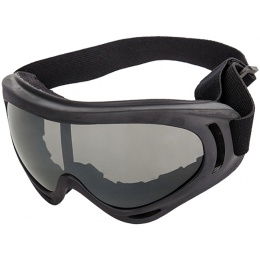 AMA High Contrast Airsoft Gray Lens Goggles - BLACK