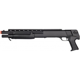 Double Eagle M309 Plastic Pump Action Airsoft Shotgun - BLACK