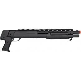 Double Eagle M309 Plastic Pump Action Airsoft Shotgun - BLACK