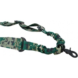 AMA Airsoft Tactical One Point Nylon Bungee Sling - WOODLAND DIGITAL