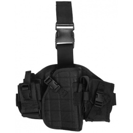 Lancer Tactical Airsoft MOLLE Platform Drop Leg Pistol Holster - BLACK