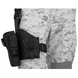 Lancer Tactical Airsoft MOLLE Platform Drop Leg Pistol Holster - BLACK