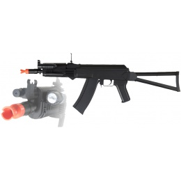 UK Arms Airsoft AK74 Spring Rifle w/ Flashlight & Laser - BLACK