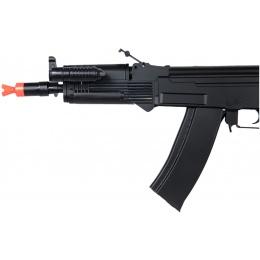 UK Arms Airsoft AK74 Spring Rifle w/ Flashlight & Laser - BLACK