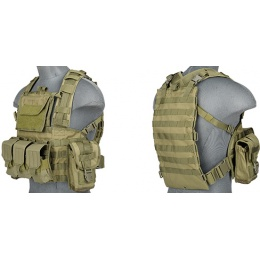 Lancer Tactical Airsoft M4/M16 Modular Chest Rig (Nylon) - OD