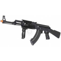 JG AK-47 Tactical RIS Full Metal Gearbox Airsoft AEG Rifle - BLACK