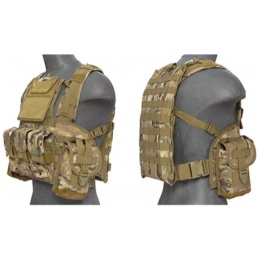 Lancer Tactical Airsoft M4 MOLLE Modular Chest Rig - CAMO
