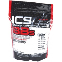 ICS MC-23 6mm Competition Grade 0.25g 3500rd Aisoft BBs - WHITE