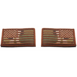AMA American Independence Flag Hook and Loop Patches - CAMO