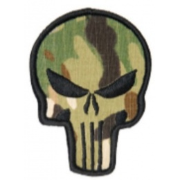 AMA Hook and Loop Airsoft MC Punisher Patch - CAMO