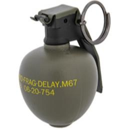 AMA Tactical Plastic M67 Dummy Frag Grenade - OLIVE DRAB GREEN