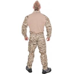Lancer Tactical Airsoft Gen 3 Combat Shirt / Pants BDU - DESERT DIGITAL