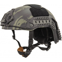 Lancer Tactical Maritime Airsoft ABS Polymer Helmet - CAMO BLACK