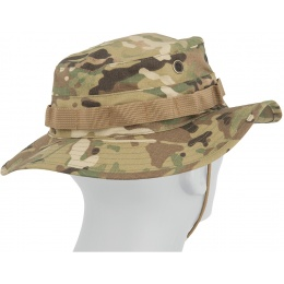Lancer Tactical Boonie Hat w/ Adjustable Chin Strap - CAMO