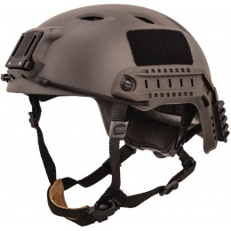 Lancer Tactical ACH Base Jump Airsoft Gear Helmet - SMOKE GRAY - L/XL