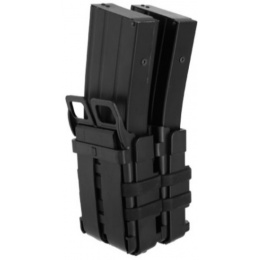 AMA Airsoft High Speed M4/M16 Dual Magazine Pouch - BLACK