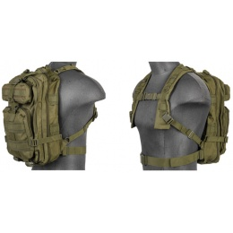 AMA Airsoft 600D Nylon Y Structure MOLLE Backpack - OLIVE DRAB