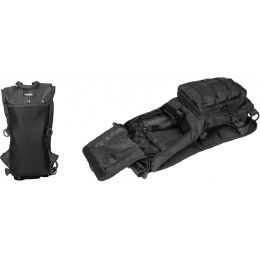 Lancer Tactical Nylon Lightweight Hydration Pack - BLACK