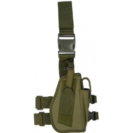 Lancer Tactical Nylon Drop Leg Holster - OD GREEN