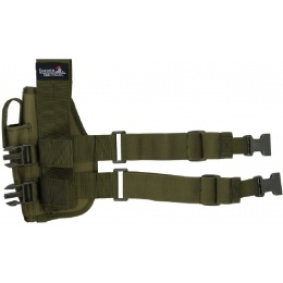 Lancer Tactical Nylon Drop Leg Holster - OD GREEN