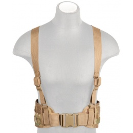Lancer Tactical Low Profile MOLLE Battle Belt w/ Suspenders - CAMO