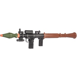Spring Powered Airsoft RPG w/ Laser - BLACK / GREEN