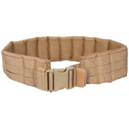 Lancer Tactical MOLLE Nylon Battle Belt - COYOTE BROWN