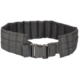 Lancer Tactical MOLLE Nylon Battle Belt - BLACK