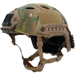 Lancer Tactical Airsoft PJ-Type Airsoft Helmet - CAMO (L/XL)