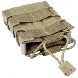 TMC Cross Modular Single Airsoft Rifle Magazine Pouch - KHAKI