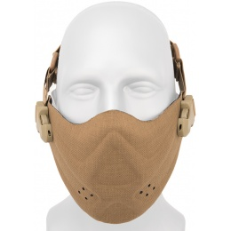 AMA Neoprene Airsoft Hard Foam Half Mask - DARK EARTH