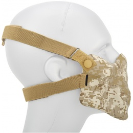AMA Tactical Skull Lower Face Mask w/ Foam Padding - DESERT DIGITAL