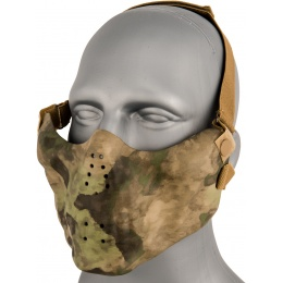 AMA Tactical Skull Lower Face Mask w/ Foam Padding - FOLIAGE GREEN