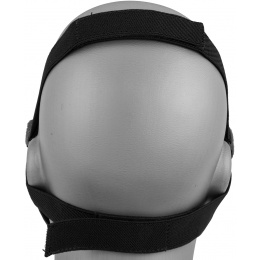 AMA Skull Lower Face Mask w/ Foam Padding - BLACK