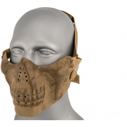 AMA Tactical Skull Lower Face Mask w/ Foam Padding - GREEN