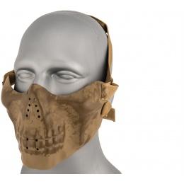 AMA Tactical Skull Lower Face Mask w/ Foam Padding - GREEN