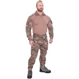 Lancer Tactical Airsoft Gen 3 Combat Shirt / Pants BDU - CAMO DESERT