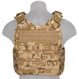 Lancer Tactical Airsoft MOLLE Ballistic Plate Carrier - DESERT CAMO