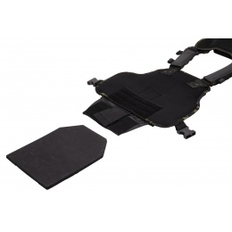 Lancer Tactical Airsoft MOLLE Ballistic Plate Carrier - BLACK CAMO
