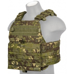 Lancer Tactical Airsoft MOLLE Ballistic Plate Carrier - TROPIC CAMO