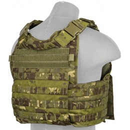 Lancer Tactical Airsoft MOLLE Ballistic Tactical Vest (Tropic Camo)