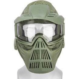 CYMA Airsoft Full Face Mask w/ Clear Goggles & Visor - OLIVE DRAB