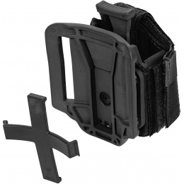 Lancer Tactical Universal Polyester Airsoft Pistol Holster - BLACK
