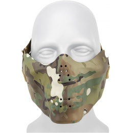 AMA Airsoft Tactical Half-Face Skull Mask - CAMO TROPIC