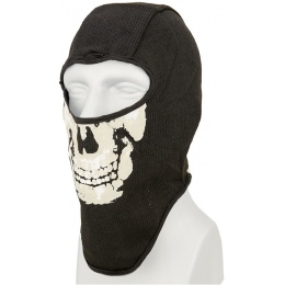 AMA Tactical Airsoft Balaclava Skull Face Mask - BLACK