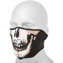 AMA Tactical Airsoft Neoprene Half Face Skull Mask - BLACK