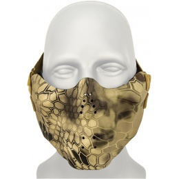 AMA Tactical Airsoft Half Face Skull Mask - HLD